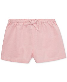 Polo Ralph Lauren Baby Girls Cotton Oxford Woven Shorts