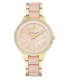 Women's Gold-Tone Blush Link Bracelet Watch 37mm AK-1412BMGB