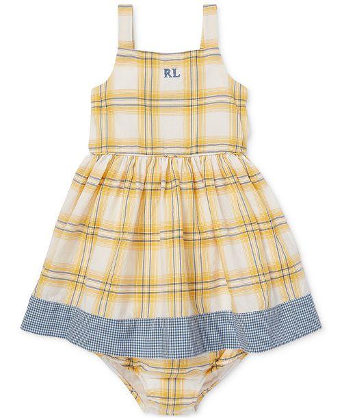 36e36af5ca Baby Girls Plaid Cotton Dress & Bloomer