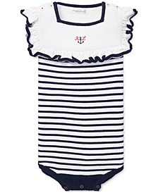 Baby Girls Nautical Bubble Cotton Shortall