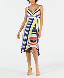 Petite Mixed-Stripe Dress