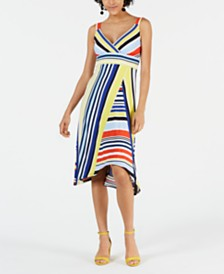 John Paul Richard Petite Mixed-Stripe Dress