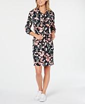 723d3a992 Tommy Hilfiger Floral-Print Long-Sleeve Dress