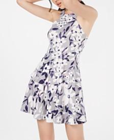 Speechless Juniors' Floral-Print Fit & Flare Dress