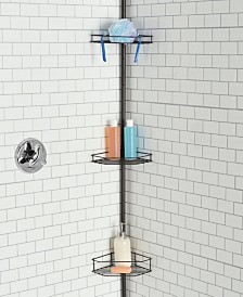 Home Basics 3 Tier Tension Rod Shower Caddy