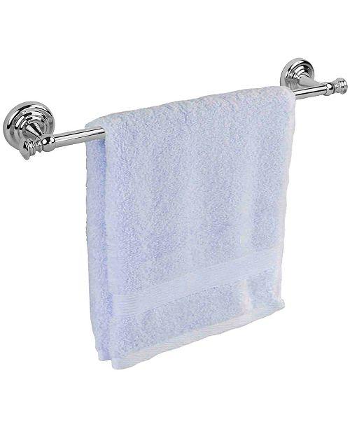 Home Basics Plated Steel Wall-Mounted Towel Rail