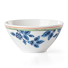Northern Blossom Blue Floral Melamine AP Bowl