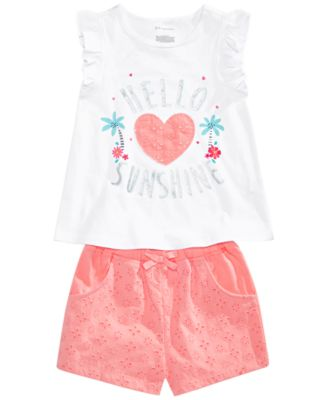 Baby Girls Ruffle Sleeve Graphic Top, Created for Macy's