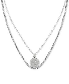 "Argento Vivo Virgin Mary Layered 36"" Pendant Necklace in Sterling Silver"