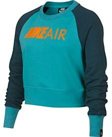 Nike Big Girls Air Logo Graphic Sweatshirt