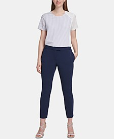 Side-Slit Slim-Leg Pants