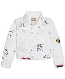 Polo Ralph Lauren Little Girls Graffiti Cotton Denim Jacket