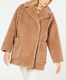 Weekend Max Mara Faux-Fur Peacoat