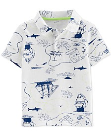 Carter's Toddler Boys Printed Cotton Polo