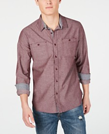 American Rag Men's Jacquard Pin Dot Shirt, Created for Macy's