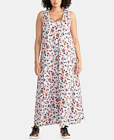 RACHEL Rachel Roy Plus Size Gabi Printed Maxi Dress