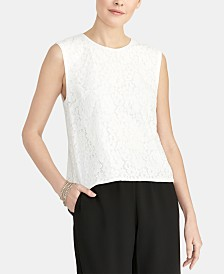 RACHEL Rachel Roy Addie Sleeveless Lace Top
