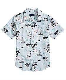 Big Boys Marina Regular-Fit Tropical-Print Shirt