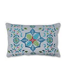Snowflakes and Berries Lumbar Pillow Multicolo