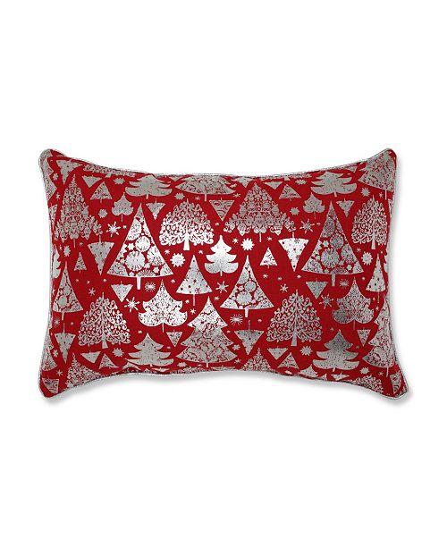 Pillow Perfect Metallic Christmas Trees Lumbar Pillow