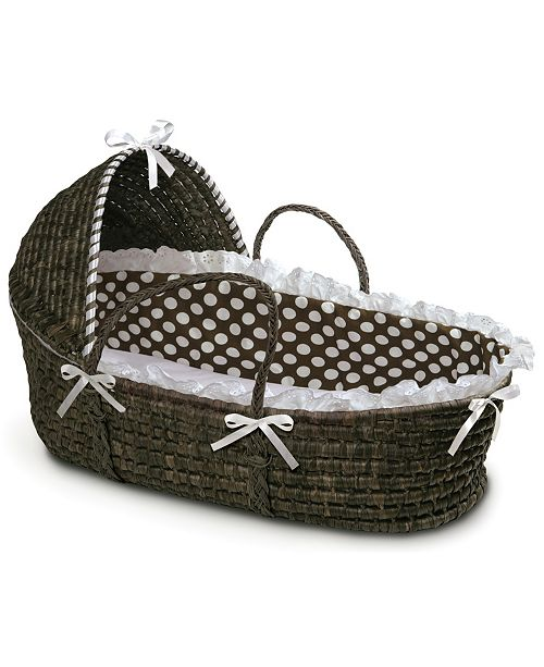 Badger Basket Espresso Moses Basket with Hood