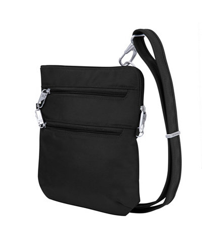 Anti-Theft Classic Slim Double Zip Crossbody