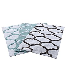 Geometric Non-Skid Cotton Bath Rug Collection
