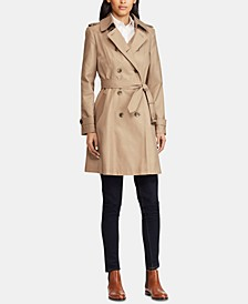 Belted Water Resistant Trench Coat, Created for Macy's