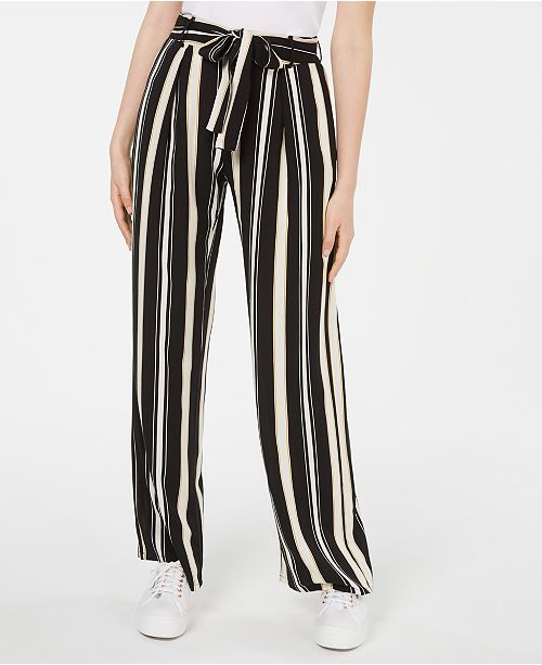 Be Bop Juniors' Striped Tie-Waist Pants
