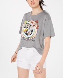 Modern Lux Juniors' Looney Tunes Graphic-Print T-Shirt
