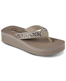 5c56e6a129e Skechers Women s Relaxed Fit  Upgrades - Be Jeweled Flip-Flop Thong ...