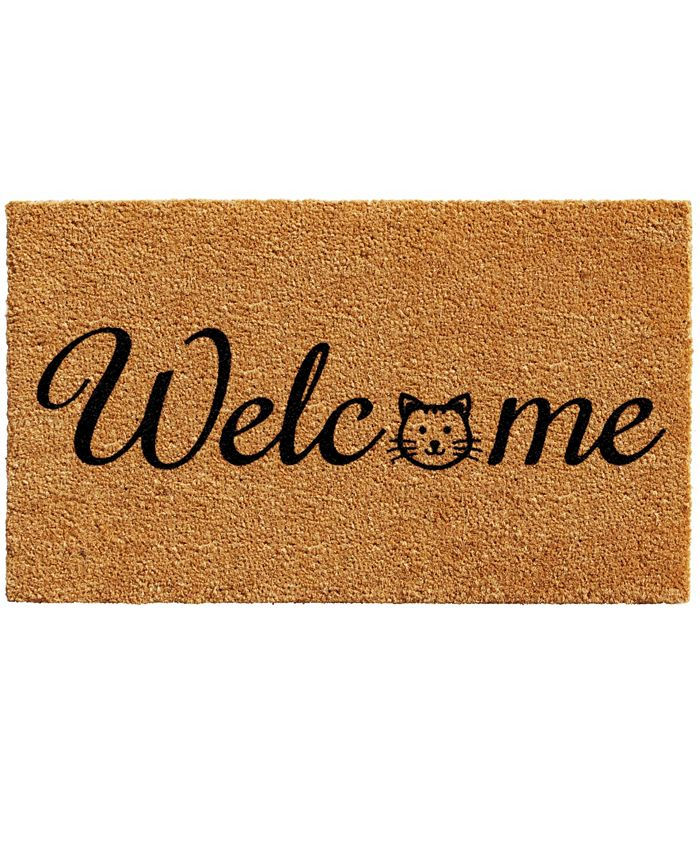 """Home & More - Kitty Welcome 24"""" x 36"""" Coir/Vinyl Doormat"""