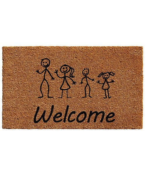 "Home & More Stick Family 18"" x 30"" Coir/Vinyl Doormat"