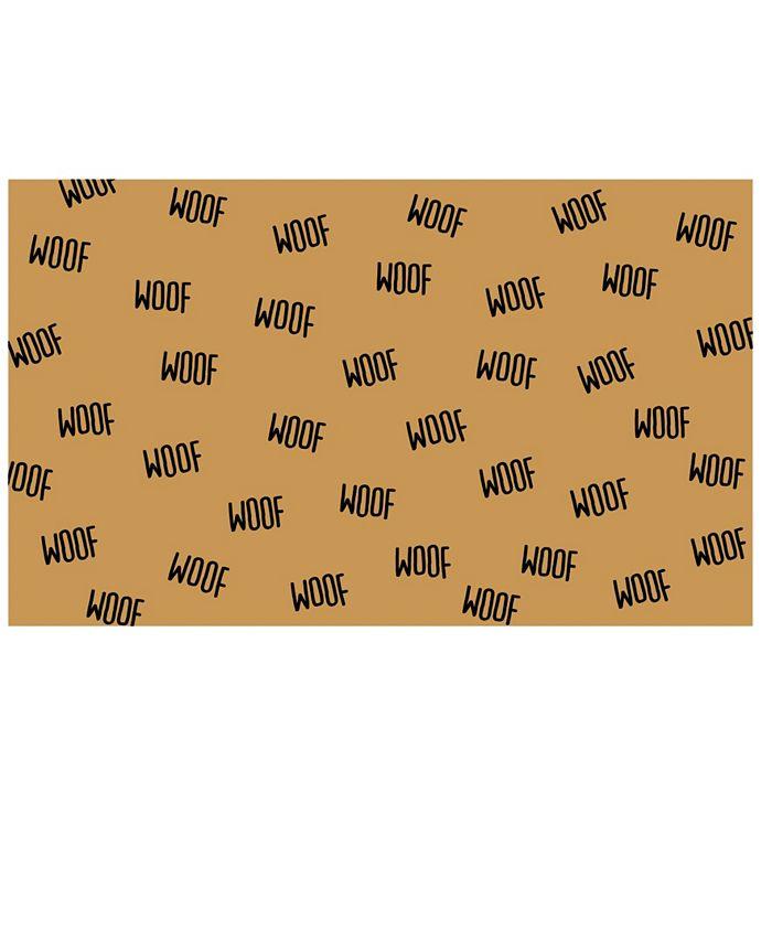 """Home & More - Lots of Woof 17"""" x 29"""" Coir/Vinyl Doormat"""