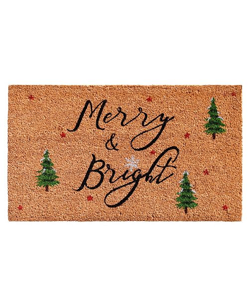 "Home & More Yule 17"" x 29"" Coir/Vinyl Doormat"