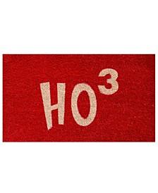 """Ho Ho Ho 17"""" x 29"""" Coir/Vinyl Doormat"""