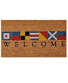 """Nautical Welcome 24"""" x 36"""" Coir/Vinyl Doormat"""