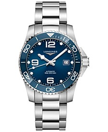 Men's Swiss Automatic HydroConquest Stainless Steel & Ceramic Dive Watch 41mm