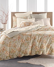 Hayden Gold Cotton 3-Pc. King Duvet Cover Set, Created for Macy's