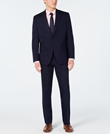 Club Room Men's Classic-Fit Stretch Navy Twill Suit, Created for Macy's