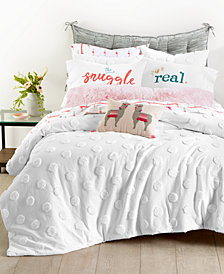 Whim by Martha Stewart Collection Chenille Dot Bedding Collection, Created for Macy's