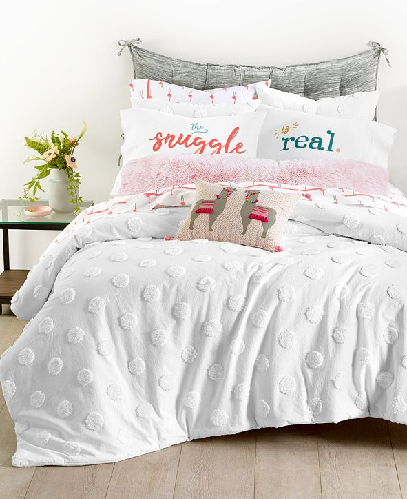 Martha Stewart Collection Chenille Dot Bedding Collection, Created for Macy's