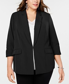 I.N.C. Plus Size 3/4-Sleeve Blazer, Created for Macy's