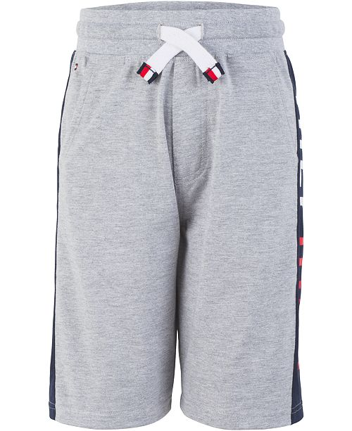 Tommy Hilfiger Little Boys Logo Stripe Drawstring Shorts