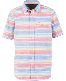 Tommy Hilfiger Big Boys Justin Stripe Poplin Shirt