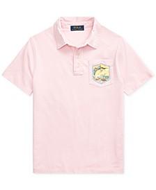 Big Boys Marlin Cotton Jersey Polo Shirt