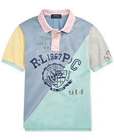 Polo Ralph Lauren Big Boys Patchwork Cotton Mesh Polo Shirt