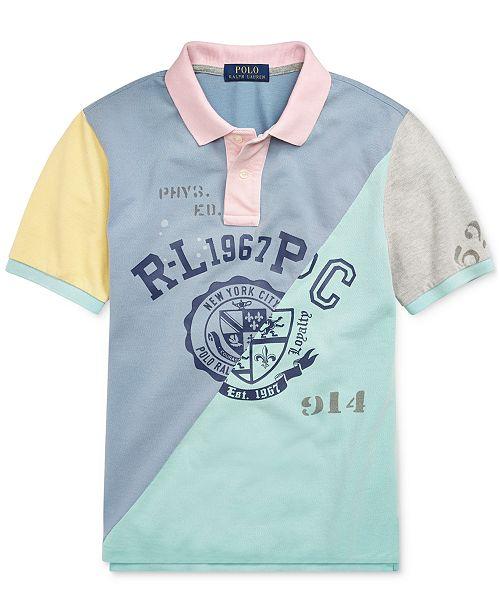 ae1a336de ... Polo Ralph Lauren Big Boys Patchwork Cotton Mesh Polo Shirt ...