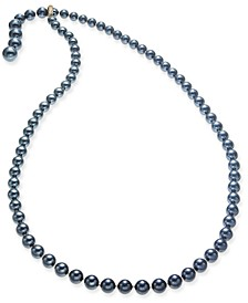 "Pavé & Imitation Pearl 36"" Lariat Necklace, Created for Macy's"