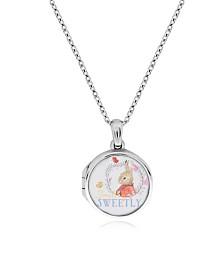 Beatrix Potter Sterling Silver Flopsy Bunny Cubic Zirconia Locket Necklace